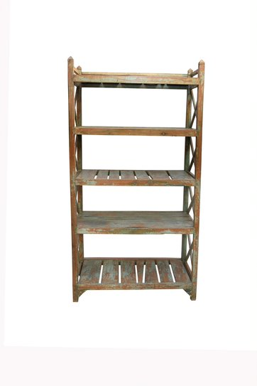 Baroque Reclaimed Wood Free Standing Shelves - HomeStreetHome.ie