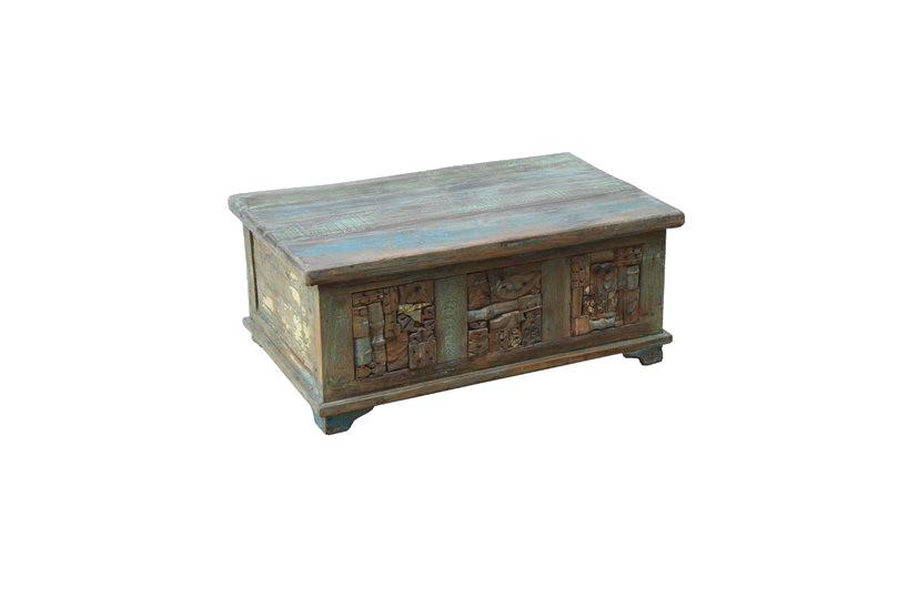 Traditional Teak Storage Trunk Coffee Table