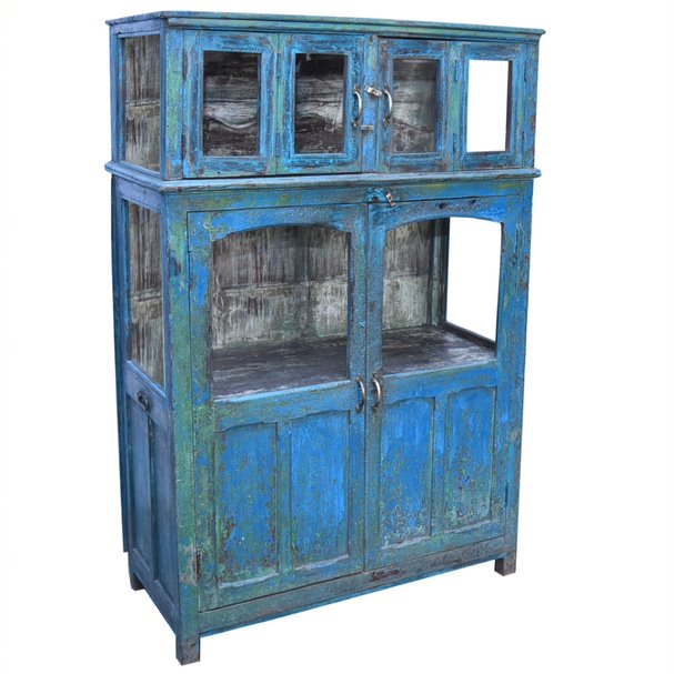 Blue City Glass Cabinet - HomeStreetHome.ie