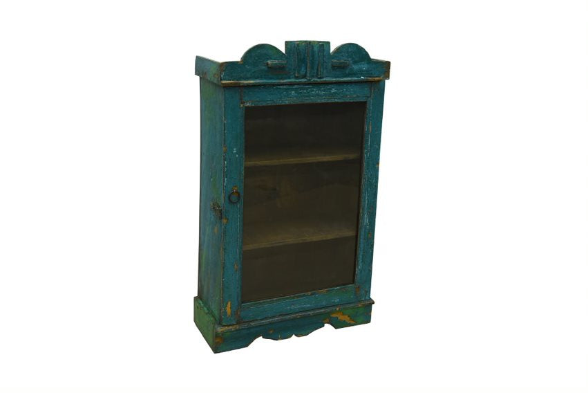 Blue Hanging Glass Display Cabinet - HomeStreetHome.ie