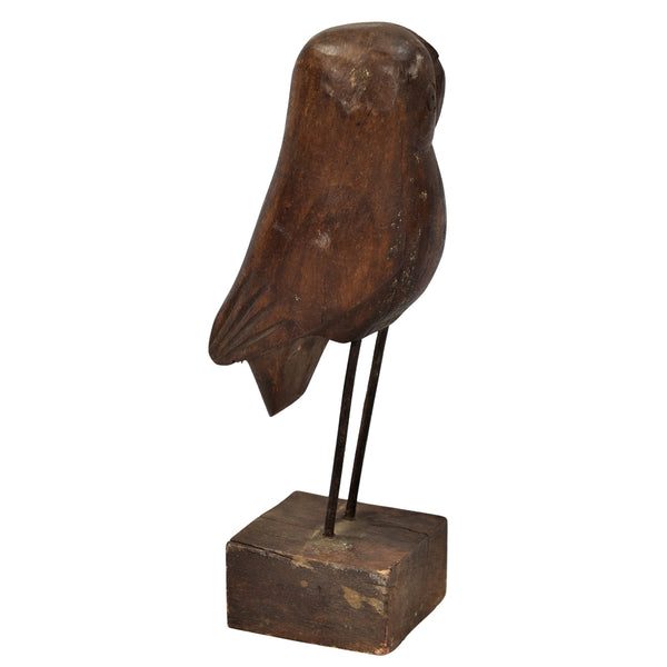 Small Owl Wood carved
