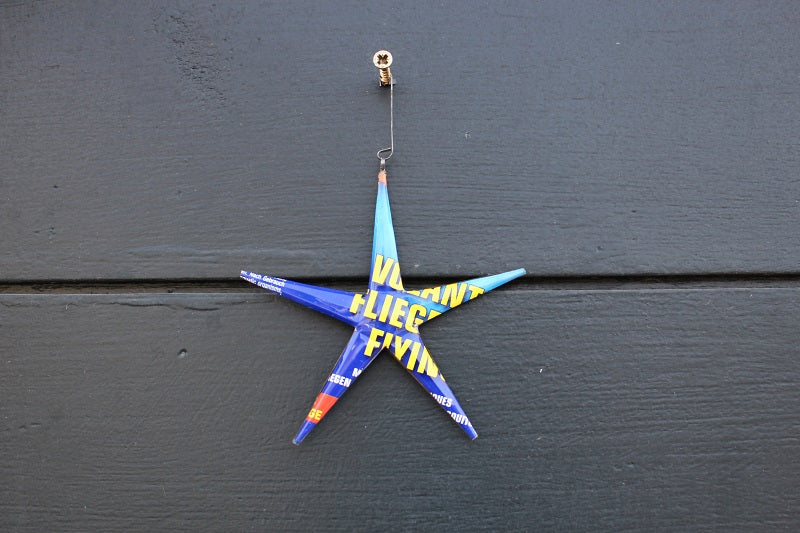 Christmas Star Recycled Can
