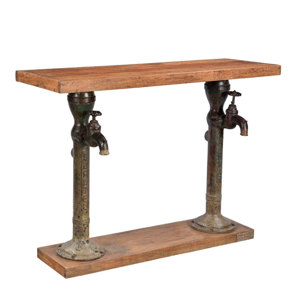 Upcycled Double ' Water Pump' Console Table - HomeStreetHome.ie