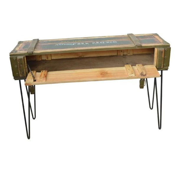 Army Crate Console Desk - HomeStreetHome.ie