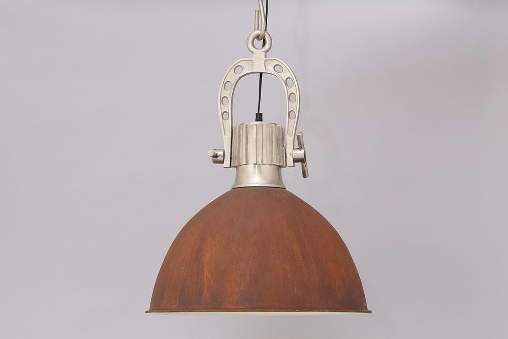 Rusty Industrial Light Pendant With Steel Fixture - HomeStreetHome.ie