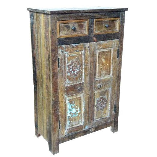 Flower Wooden Storage Cupboard - HomeStreetHome.ie