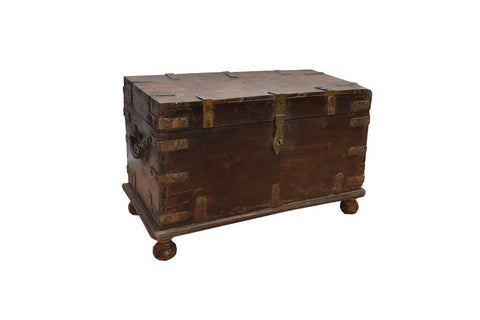 Gascony Antique Storage Trunk - HomeStreetHome.ie
