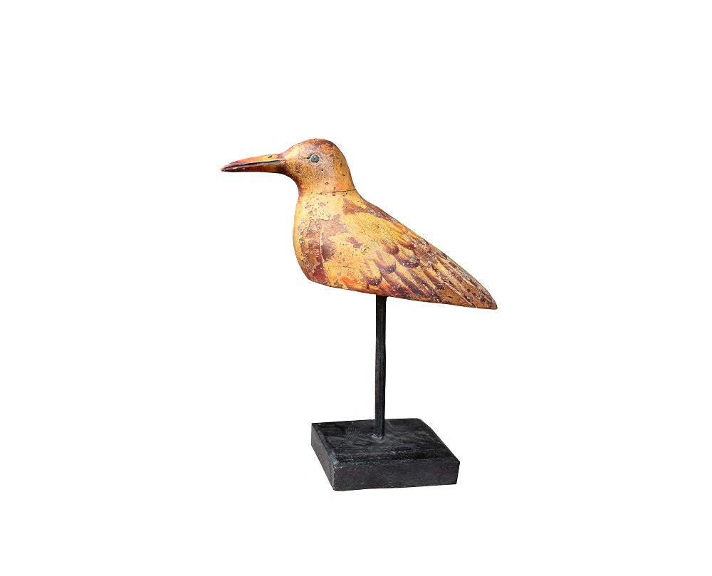 Wood Bird on Stand - HomeStreetHome.ie