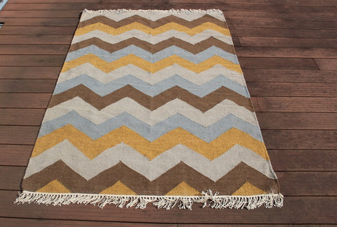 Hill patterned Wool & Organic Cotton Rug - HomeStreetHome.ie