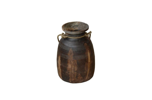 Himachal Wood Pot - HomeStreetHome.ie