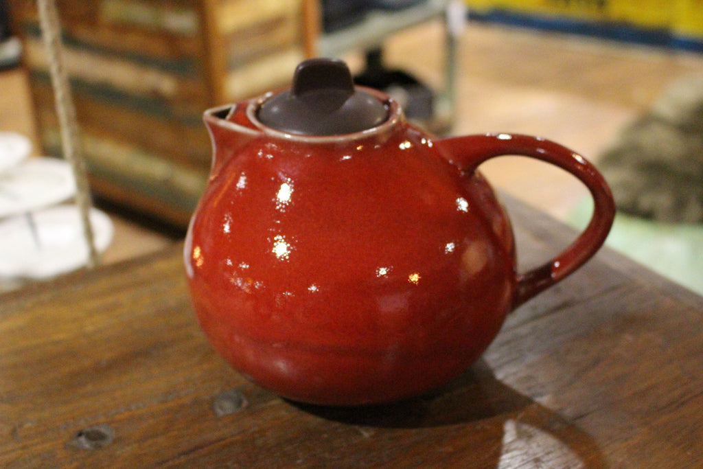 Handmade Ceramic Red Glazed Teapot - HomeStreetHome.ie