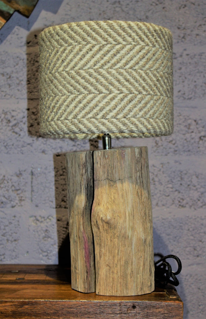 Driftwood Lamp Small Tweed - HomeStreetHome.ie