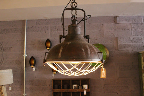 Industrial Iron Pendant Light - HomeStreetHome.ie