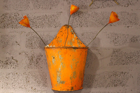 Metal Wall Hanging Planter - HomeStreetHome.ie