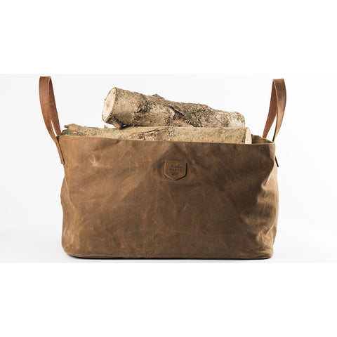Log Bag Firewood Waxed Canvas