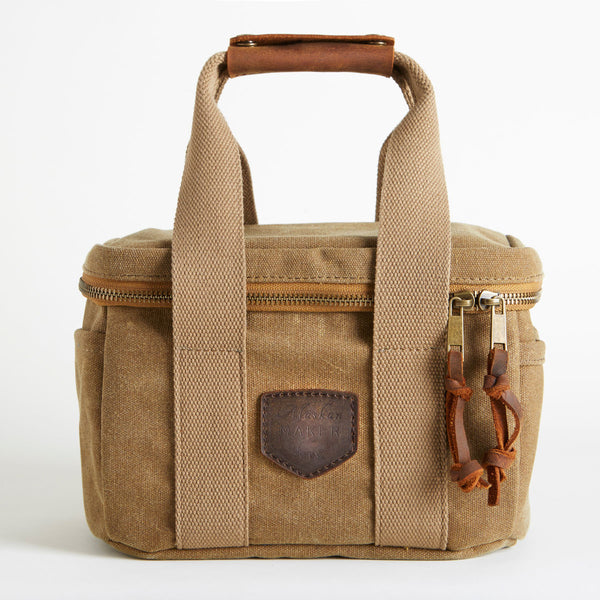 Lunch Bag Navy Waxed Canvas Nomad
