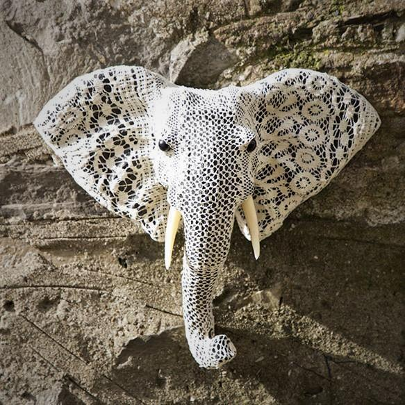 Elephant Head Paper Mache - HomeStreetHome.ie