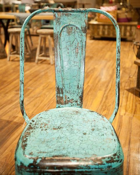 Distressed Steel Frame Chair - HomeStreetHome.ie