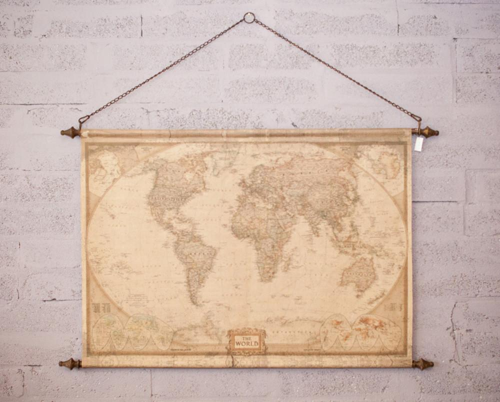 Hanging World Map - Atlas - HomeStreetHome.ie