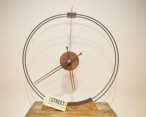 Ash and fibre glass free standing clock - HomeStreetHome.ie