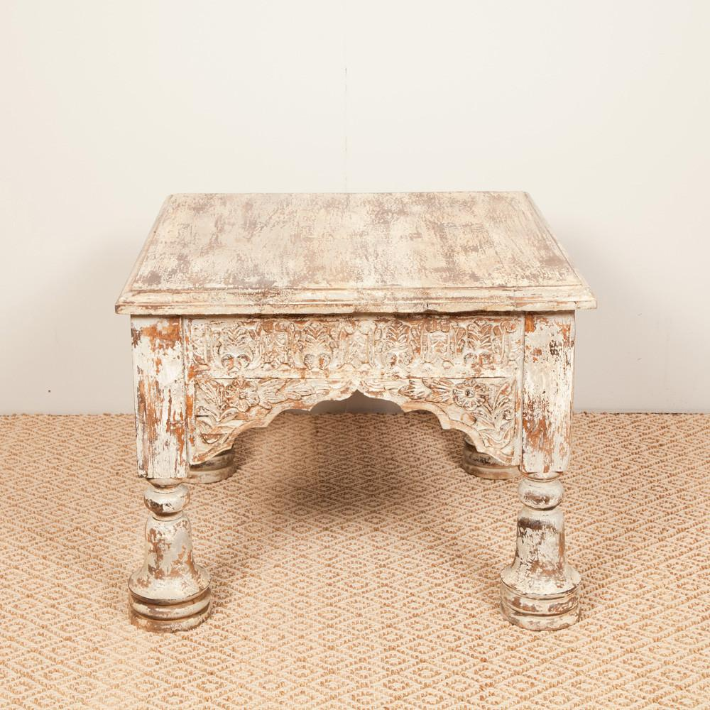 Handcarved Traditional Indian Coffee Table - Side Table - HomeStreetHome.ie