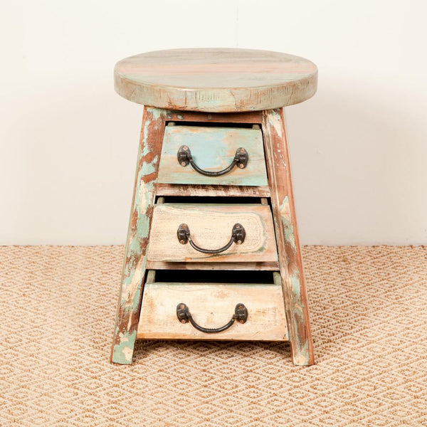 Teak Wood Storage Stool - HomeStreetHome.ie