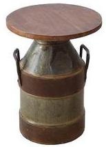 Milk Churn Small Stool - HomeStreetHome.ie