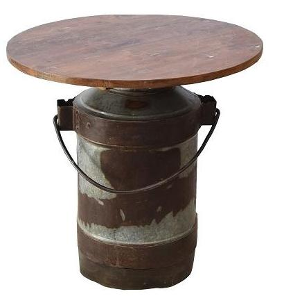 Milk Churn Table Set with 3 Stools - HomeStreetHome.ie