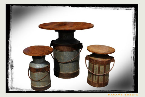 Milk Churn Table - HomeStreetHome.ie