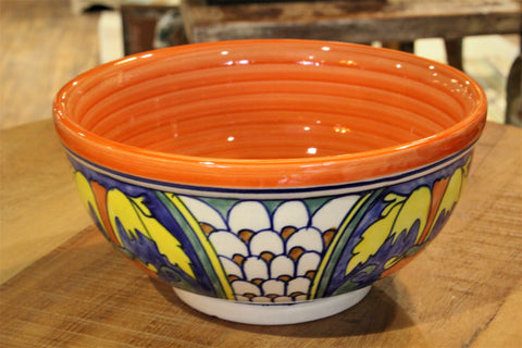Peacock Orange Ceramic Bowl