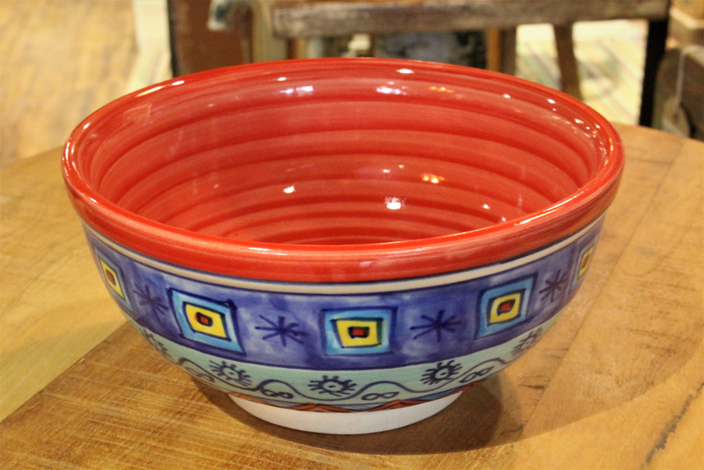 Red Peacock Ceramic Bowl - HomeStreetHome.ie