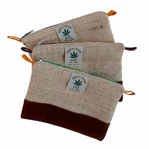 Hemp & Suede Pen Case/Washbag - HomeStreetHome.ie