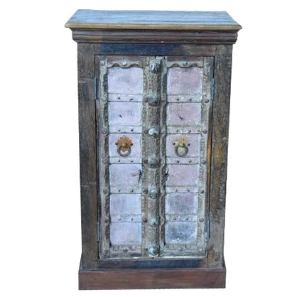 Pink Reclaimed Wood Cupboard - HomeStreetHome.ie