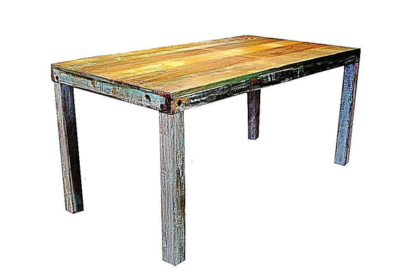 Chunky Kitchen Dining Table with Wooden Legs - HomeStreetHome.ie