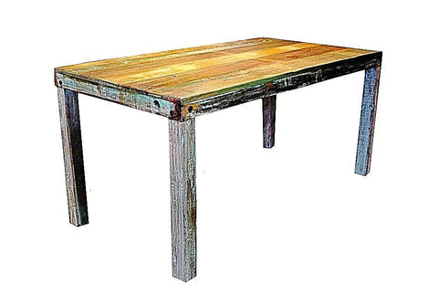 6 Person Solid Reclaimed Teak Dining Table