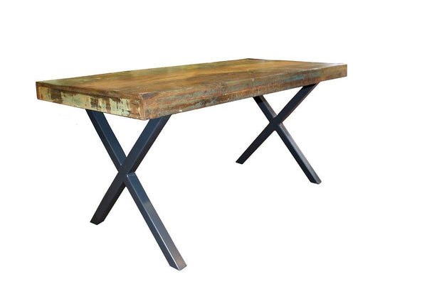 Reclaimed Mixed Wood Dining Table - HomeStreetHome.ie