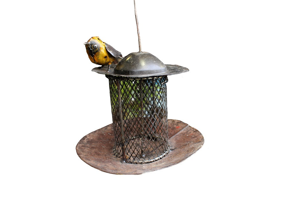 Recycled Metal Bird Feeder - HomeStreetHome.ie