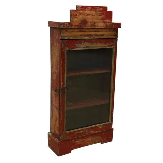 Red Hanging Glass Display Cabinet - HomeStreetHome.ie