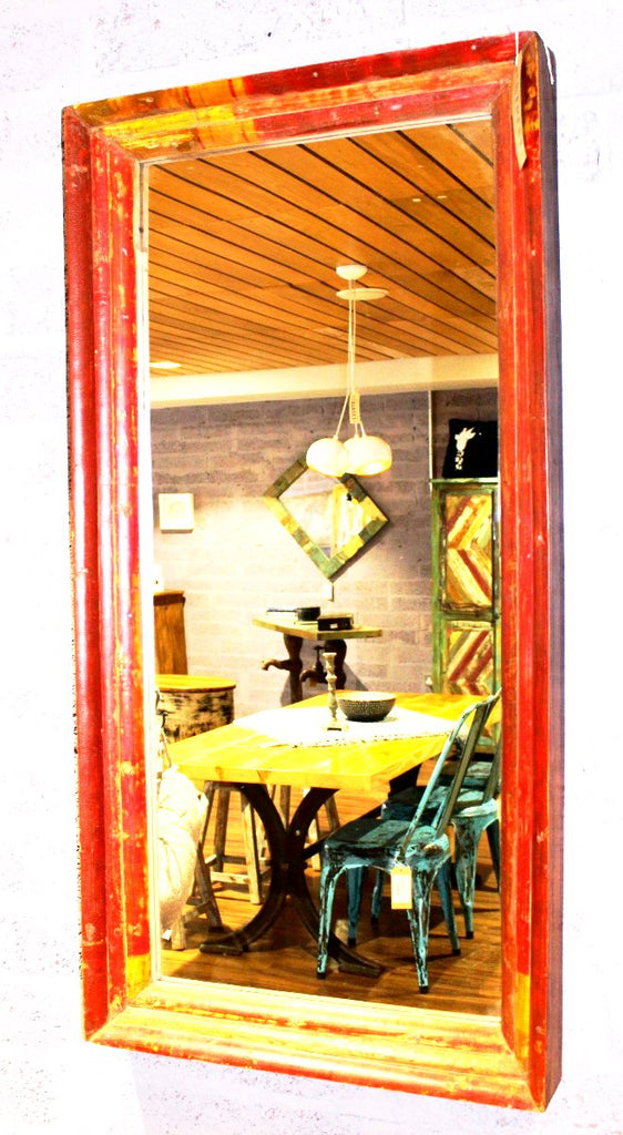 Bamboo Frame Red Mirror | Mirrors, Wall Art & Deco| Home Street Home - HomeStreetHome.ie