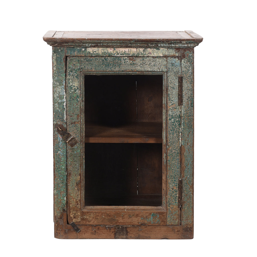 Rustic Wall Hanging Glass Cabinet