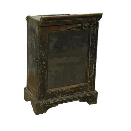 Rustic Hanging Glass Cabinet with Door - HomeStreetHome.ie