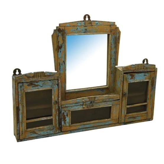 Sandy Antique Mirror Hanging Cabinet - HomeStreetHome.ie