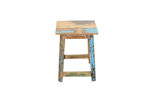 Scrap Wooden Stool - HomeStreetHome.ie