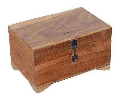 Vintage Wood Box With Compartments