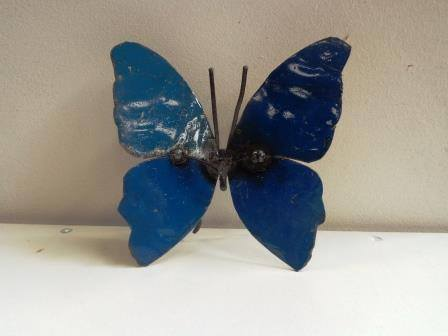 Butterfly  Recycled Metal - HomeStreetHome.ie