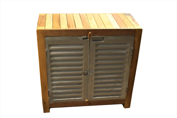 Small 2 Door Railway Shutter Cabinet - HomeStreetHome.ie