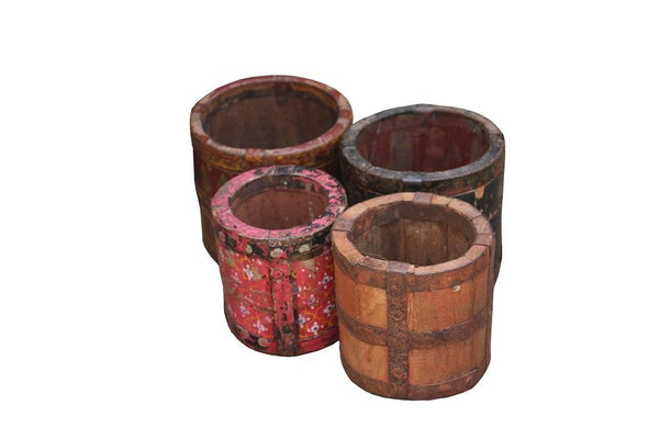 Reclaimed Wood Pot - HomeStreetHome.ie