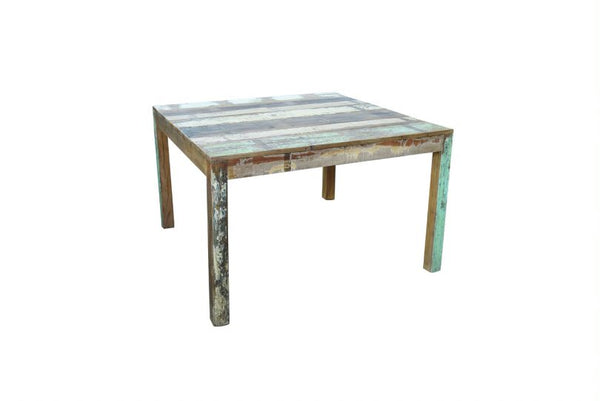 Square Sand Reclaimed Wood Dining Table 90cm - HomeStreetHome.ie