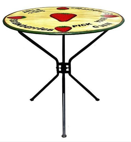 The Strawberry  - Folding Metal Bistro Garden Table - HomeStreetHome.ie