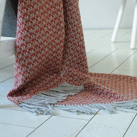 Coral Wool Throw Blanket - HomeStreetHome.ie